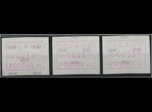 ISLAND 1993 ATM Nr 2.2 S1 postfrisch (45765)
