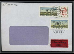 BERLIN 1991 ATM interessanter Brief ANSEHEN (49538)