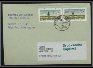BERLIN 1991 ATM interessanter Brief ANSEHEN (49546)