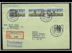 BERLIN 1991 ATM interessanter Brief ANSEHEN (49561)