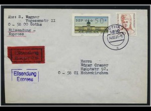 BERLIN 1991 ATM interessanter Brief ANSEHEN (49562)