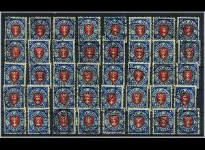 DANZIG 1924 40x Nr 200 gestempelt ME 400.-+++ (58840)