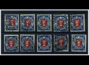DANZIG 1924 10x Nr 200 gestempelt ME 100.-+++ (58841)