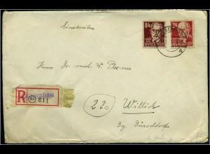 SBZ interessanter Einschreibe Brief ANSEHEN (64445)
