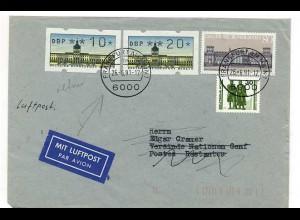 BERLIN ATM 1991 LuPo Brief mit Retour Vermerk (65425)