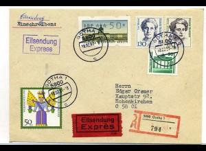 BERLIN ATM 1991 Eilbotenbrief (65432)