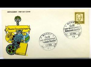 BUND 1964 - Franz Oppenheimer Schmuck FDC (65445)