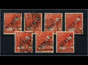 BERLIN 1949 7x Nr 3 sauber rundgestempelt (68557)