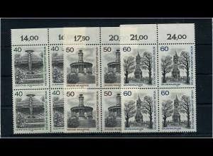 BERLIN 1980 Nr 634-636 Viererblock postfrisch (68747)