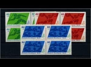 BERLIN 1980 Nr 621-623 VIERERBLOCK postfrisch (69541)