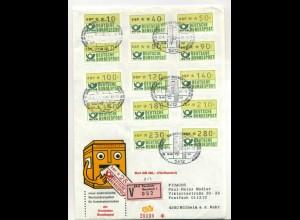 BUND ATM Nr 1 TS1 auf FDC ME 200.- (700014)