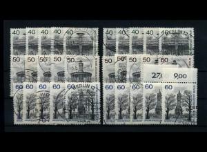 BERLIN 1981 10x Nr 634-636 sauber gestempelt (70004)