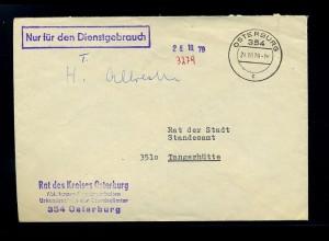 OSTERBURG - Brief 1979 Nur fuer den Dienstgebr. (70824)