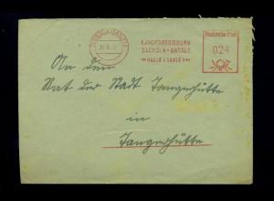 HALLE 1951 interessanter Freistempelbeleg (70925)