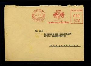 COLBITZ 1953 interessanter Freistempelbeleg (70926)