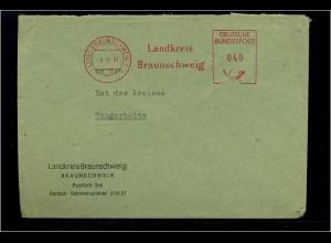 BRAUNSCHWEIG 1961 Freistempelbeleg in die DDR (70928)