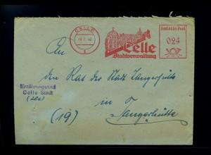 CELLE 1948 Freistempelbeleg in die DDR (70933)