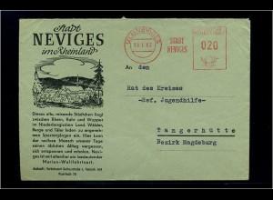NEVIGES 1962 Freistempelbeleg in die DDR (70942)