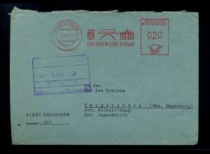 SOLINGEN 1961 Freistempelbeleg in die DDR (70945)
