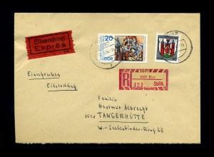 DDR 1985 SBPA Einschreibe-Brief (70997)