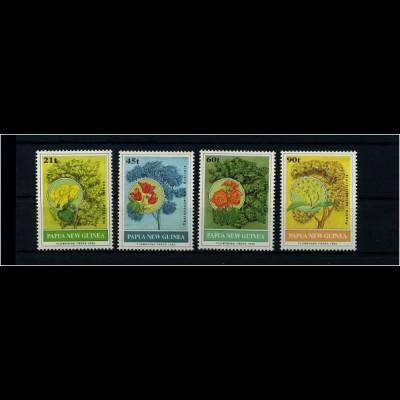PAPUA NEUGUINEA 1992 Motivsatz: PFLANZEN postfr (71628)