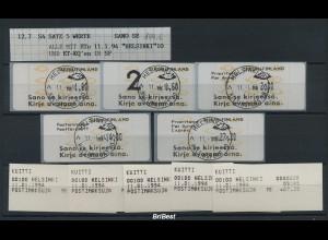 FINNLAND 1993 ATM Nr 12.6 Satz S4 gestempelt (78175)