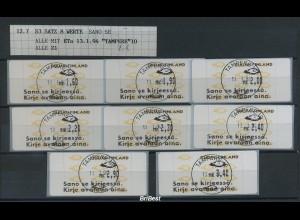 FINNLAND 1993 ATM Nr 12.6 Satz gestempelt (78178)