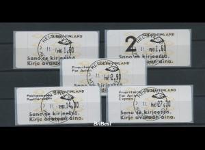 FINNLAND 1992 ATM Nr 12.6 Satz S4 EST HELSINKI (78611)