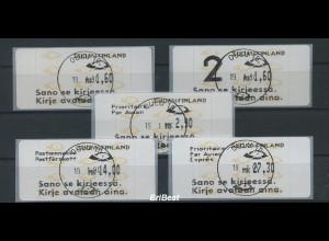 FINNLAND 1992 ATM Nr 12.6 Satz S4 EST OULU (78615)