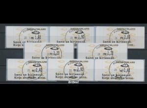 FINNLAND 1992 ATM Nr 12.6 Satz S5 EST KUOPIO (78616)