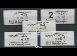 FINNLAND 1992 ATM Nr 12.6 Satz S4 EST PORVOO (78625)
