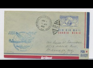 Interessanter Erstflugbeleg 1951 ANSEHEN (80371)