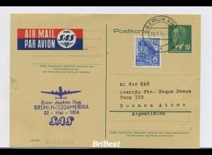 Interessanter Erstflugbeleg 1954 ANSEHEN (80387)