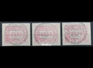 ISRAEL 1988 ATM Nr 1 S1 gestempelt (80860)
