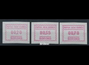 PAPUA NEUGUINEA 1990 ATM Nr S1 Satz postfrisch (80884)