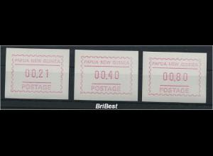 PAPUA NEUGUINEA 1991 ATM Nr S2 Satz postfrisch (80885)