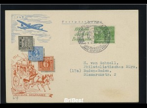 BERLIN 1949 ZD W9 auf Schmuck FDC (83123)