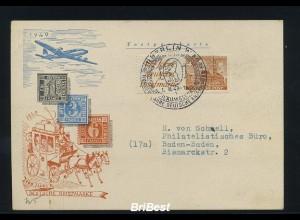 BERLIN 1949 ZD W5 auf Schmuck FDC (83125)