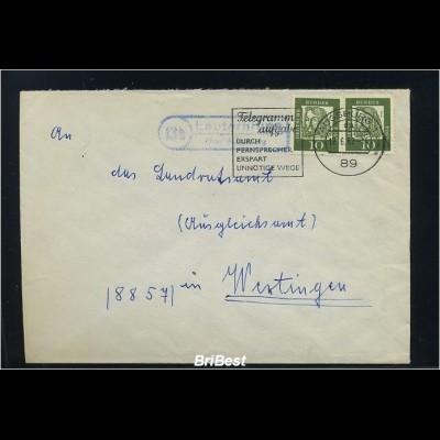 BUND 1962 Brief mit Landpoststempel LAUTERBRUNN (83248)