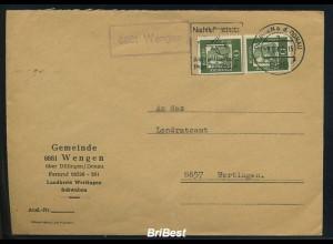 BUND 1961 Brief mit Landpoststempel WENGEN (83253)