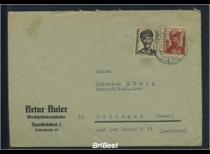 SAAR 1948 interessanter Brief ANSEHEN (83773)