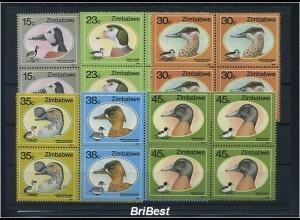 SIMBABWE 1988 VB-SATZ Motiv: VOEGEL postfrisch (85227)
