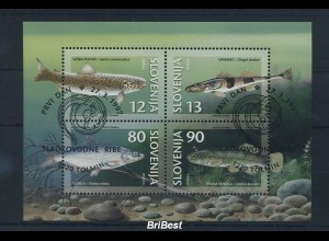 SLOWENIEN 1997 Block FISCHE gestempelt (85294)
