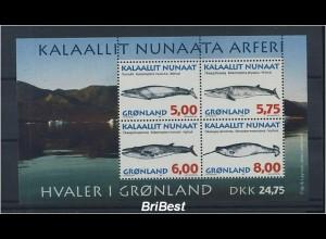GROENLAND 1997 Block FISCHE postfrisch (85315)