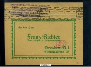 DR 1923 Interessanter Brief / Werbung (85507)