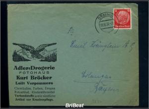 DR 1934 Interessanter Brief / Werbung (85517)