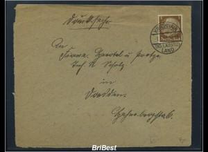 DR 1938 Interessanter Brief / Landpoststempel (85597)