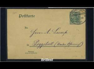 DR 1903 Interessante Ganzsache (85609)