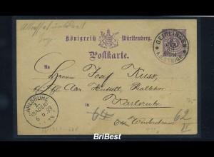 DR 1889 Interessante Ganzsache (85610)