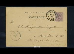 DR 1886 Interessante Ganzsache (85630)